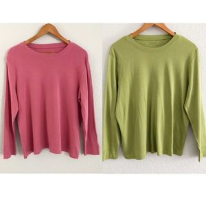 LOT OF 2 Talbots Pima Cotton Tee Shirt Tops